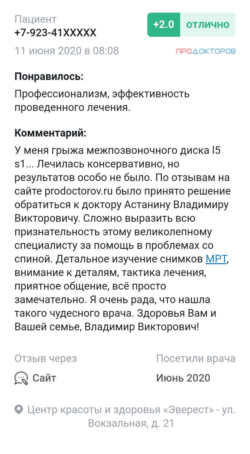 Отзыв Астанин В.В. phone_1